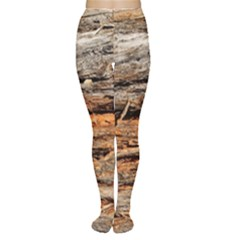 Natural Wood Texture Women s Tights by BangZart