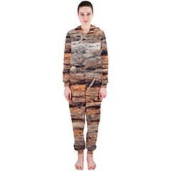 Natural Wood Texture Hooded Jumpsuit (ladies)