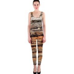 Natural Wood Texture Onepiece Catsuit