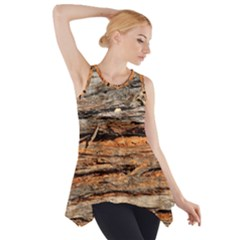 Natural Wood Texture Side Drop Tank Tunic by BangZart