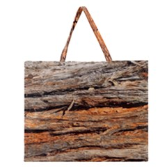 Natural Wood Texture Zipper Large Tote Bag by BangZart