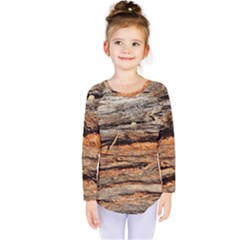 Natural Wood Texture Kids  Long Sleeve Tee by BangZart