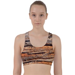 Natural Wood Texture Back Weave Sports Bra