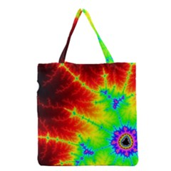 Misc Fractals Grocery Tote Bag by BangZart