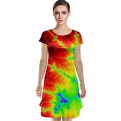 Misc Fractals Cap Sleeve Nightdress