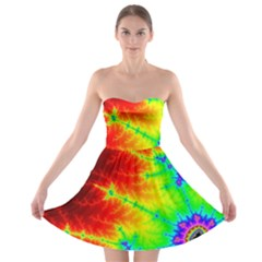 Misc Fractals Strapless Bra Top Dress