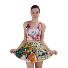 Multicolor Anime Colors Colorful Mini Skirt