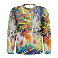 Multicolor Anime Colors Colorful Men s Long Sleeve Tee