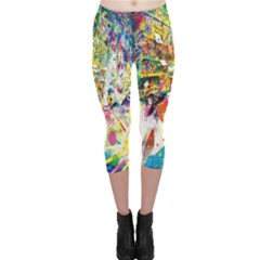 Multicolor Anime Colors Colorful Capri Leggings