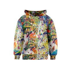 Multicolor Anime Colors Colorful Kids  Pullover Hoodie