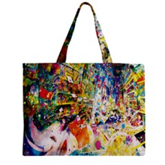 Multicolor Anime Colors Colorful Zipper Mini Tote Bag
