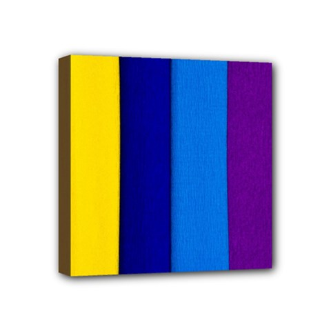 Paper Rainbow Colorful Colors Mini Canvas 4  X 4