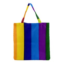 Paper Rainbow Colorful Colors Grocery Tote Bag by paulaoliveiradesign