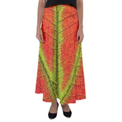 Nature Leaves Flared Maxi Skirt