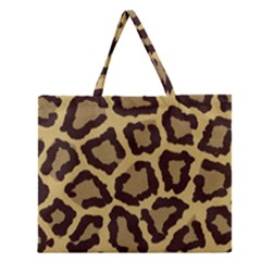Leopard Zipper Large Tote Bag by BangZart