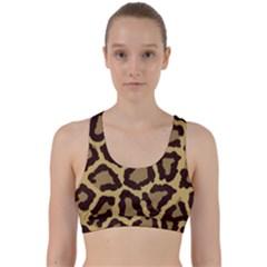 Leopard Back Weave Sports Bra