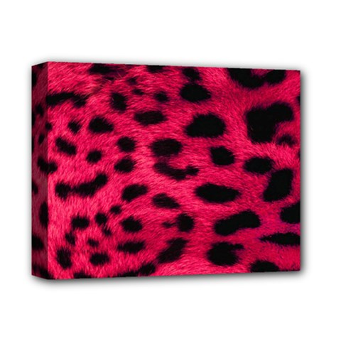 Leopard Skin Deluxe Canvas 14  X 11