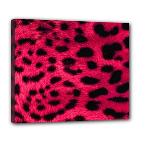 Leopard Skin Deluxe Canvas 24  X 20   by BangZart