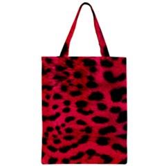 Leopard Skin Zipper Classic Tote Bag