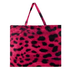 Leopard Skin Zipper Large Tote Bag by BangZart