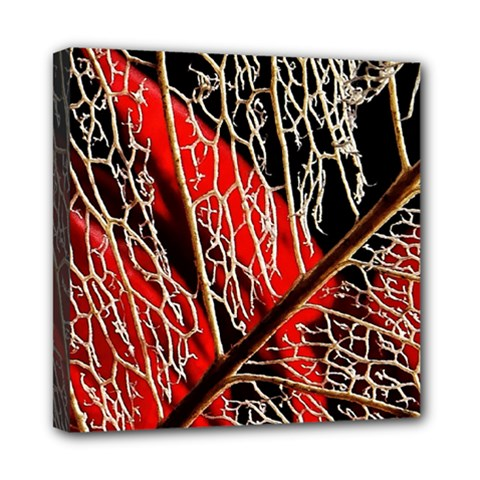 Leaf Pattern Mini Canvas 8  X 8  by BangZart