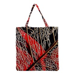Leaf Pattern Grocery Tote Bag by BangZart