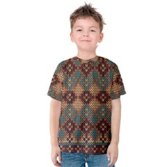 Knitted Pattern Kids  Cotton Tee