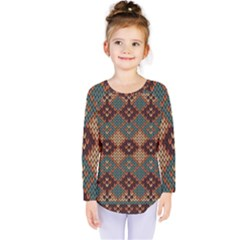 Knitted Pattern Kids  Long Sleeve Tee