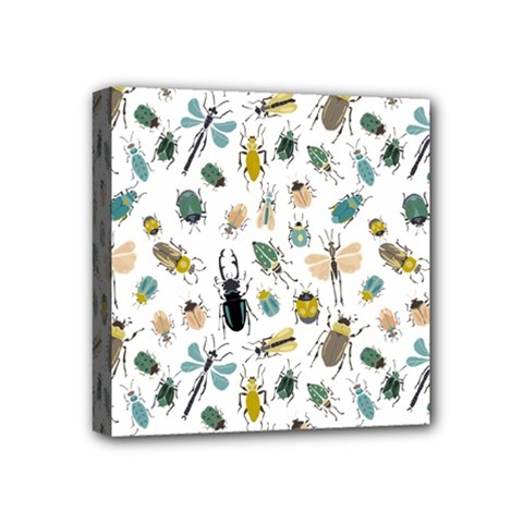 Insect Animal Pattern Mini Canvas 4  X 4