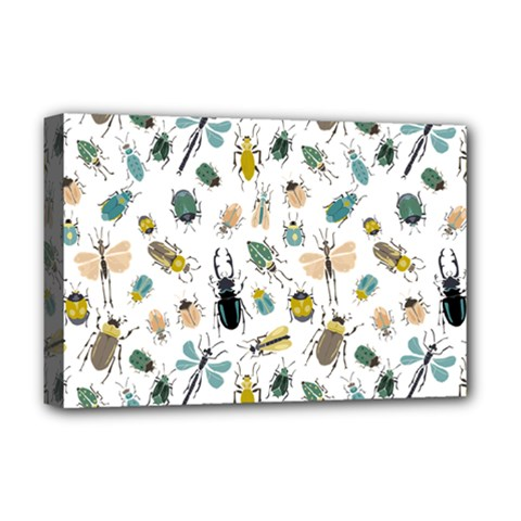 Insect Animal Pattern Deluxe Canvas 18  X 12   by BangZart