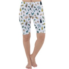 Insect Animal Pattern Cropped Leggings