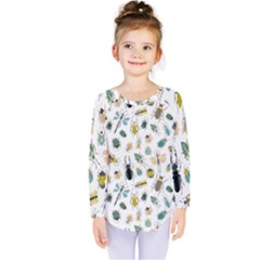 Insect Animal Pattern Kids  Long Sleeve Tee