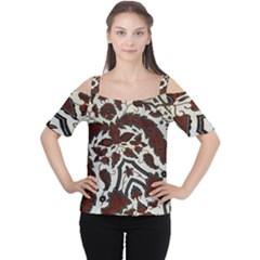 Javanese Batik Cutout Shoulder Tee