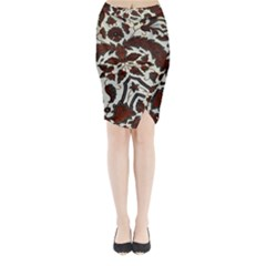 Javanese Batik Midi Wrap Pencil Skirt