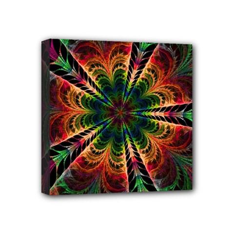 Kaleidoscope Patterns Colors Mini Canvas 4  X 4  by BangZart