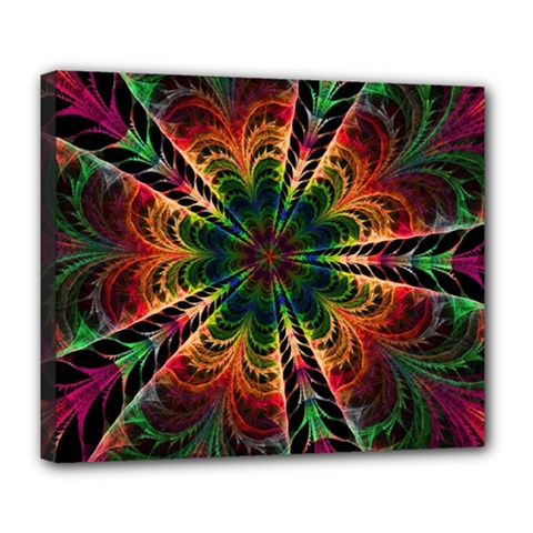 Kaleidoscope Patterns Colors Deluxe Canvas 24  X 20   by BangZart