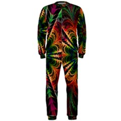 Kaleidoscope Patterns Colors Onepiece Jumpsuit (men)
