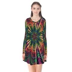 Kaleidoscope Patterns Colors Flare Dress by BangZart