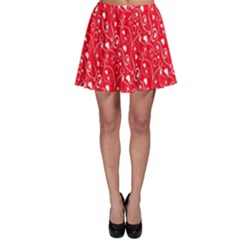 Heart Pattern Skater Skirt by BangZart