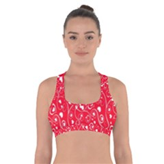 Heart Pattern Cross Back Sports Bra