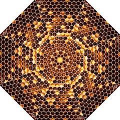 Honey Honeycomb Pattern Straight Umbrellas