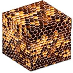 Honey Honeycomb Pattern Storage Stool 12
