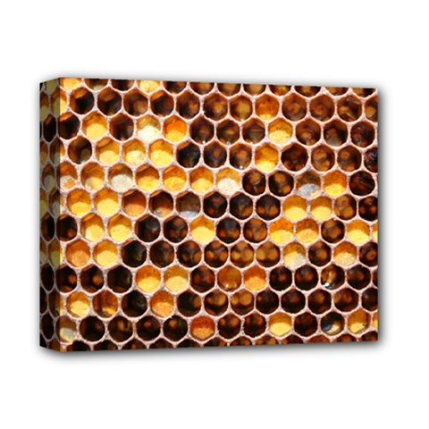 Honey Honeycomb Pattern Deluxe Canvas 14  X 11  by BangZart