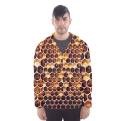 Honey Honeycomb Pattern Hooded Wind Breaker (men)