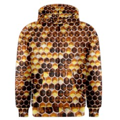 Honey Honeycomb Pattern Men s Zipper Hoodie