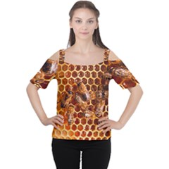 Honey Bees Cutout Shoulder Tee
