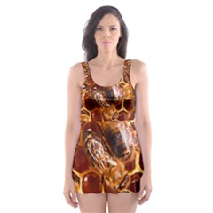 Honey Bees Skater Dress Swimsuit