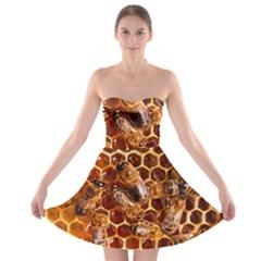 Honey Bees Strapless Bra Top Dress