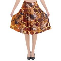 Honey Bees Flared Midi Skirt