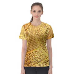 Gold Pattern Women s Sport Mesh Tee